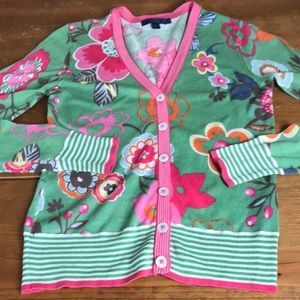 Boden whimsical button cardigan in size 10